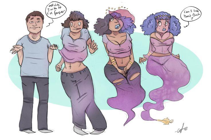 Genie Juice - TG Transformation by Grumpy-TG.deviantart.com on @DeviantArt