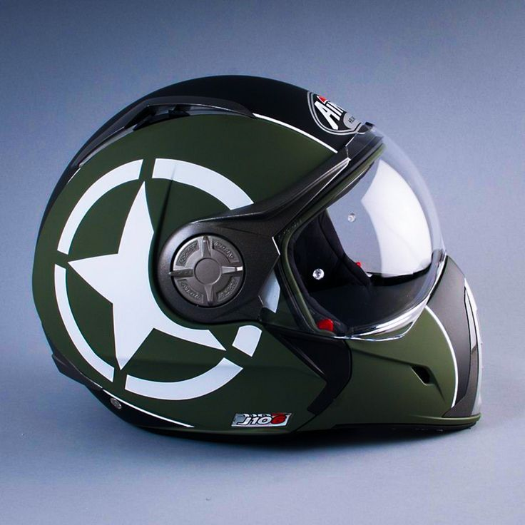 Airoh J-106 P-J Shot Green - £155.95. http://fc-moto.de/Airoh-J106-Shot-Green