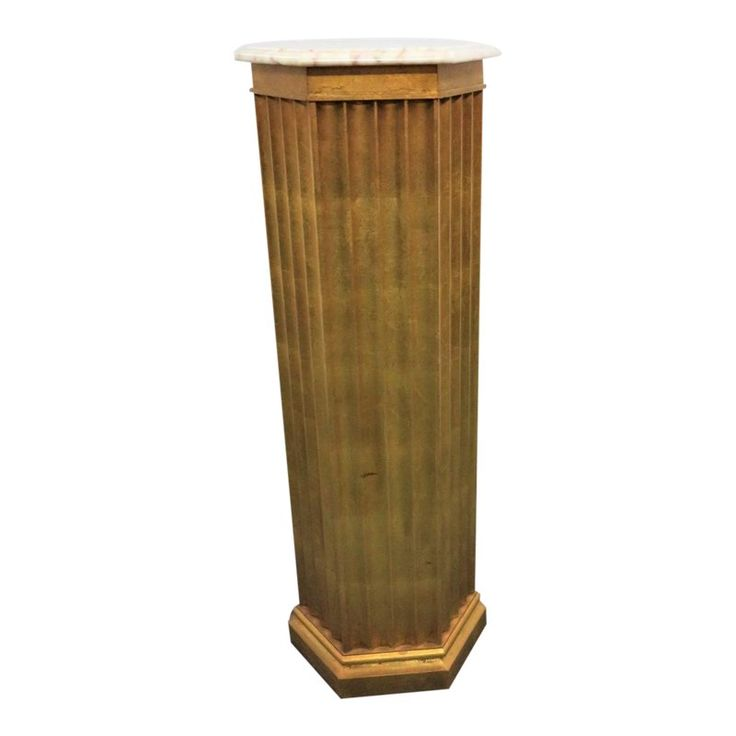 1950s Italian Style Wooden Column Pedestal