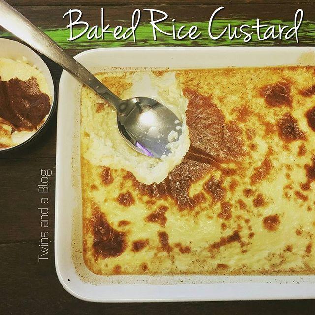 Comfort food - Baked Rice Custard 😍 http://twinsandablog.com.au/baked-rice-custard/ #twinsandablog #thermomix #thermomixaus #thermomixau #thermomixaustralia #bestofthermomix #sydneyfoodblogger #sydneyfoodblog #foodblog #food #blog #mumblog #momblog #twinmumblog #sydneyfood #bakedricecustard #ricecustard #custard #bakedcustard #comfortfood