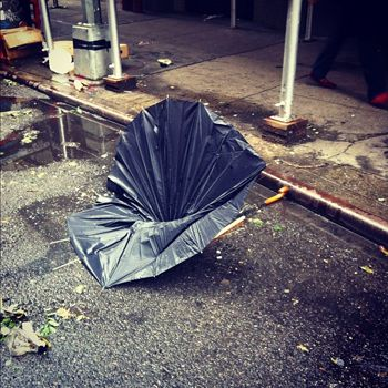 Broken Umbrella, selected by Peter Wheelwright, Architect and Associate Professor, Parsons. Photo by Lauren Manning & Veronica Acosta, part of @umbrellasnyc