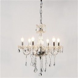 Oh Wow!! Clear Glass Six Arm Chandelier adds a touch of romance and glamour