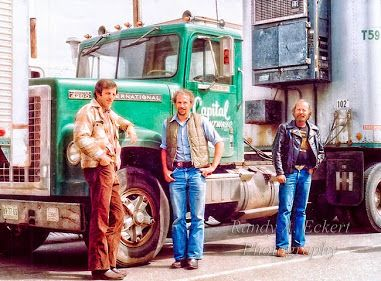 CpitalGang.jpg (381×281) TBT - From the Good Old Days!  Jim (Left) Jerry (Center) And Chuck (Right)  The Capital Gang Capital Freightways before Canadian Freightways bought them out.     Photo taken at BC Ferries when companies were running live to Vancouver, BC from Victoria, BC during a CP Barge dispute back in the late 70's early 80's.   #throughbackthursday #tbt