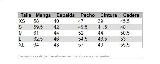 #Tabla de #medidas modelos en #corte #normal #mujer #woman