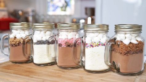 5 Hot Chocolate-In-A-Jar Recipes   Edible Gifts