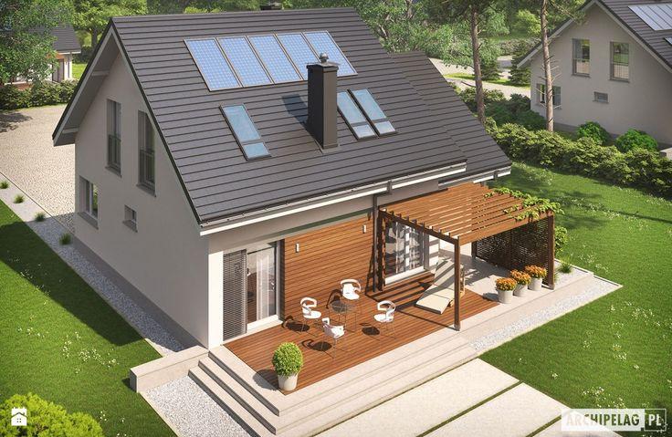 Projekt domu Leosia G1 ENERGO - widok z lotu ptaka - zdjęcie od Pracownia Projektowa ARCHIPELAG - Domy - Styl Minimalistyczny - Pracownia Projektowa ARCHIPELAG