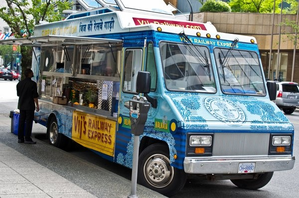 Vij's Railway Express: a food truck in downtown Vancouver, BC