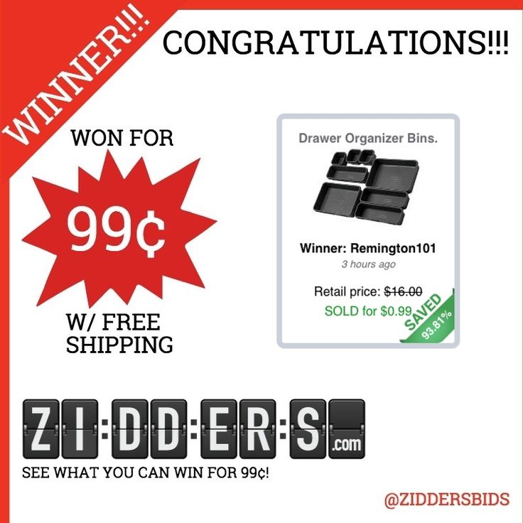 Congratulations remington101 for winning this drawer