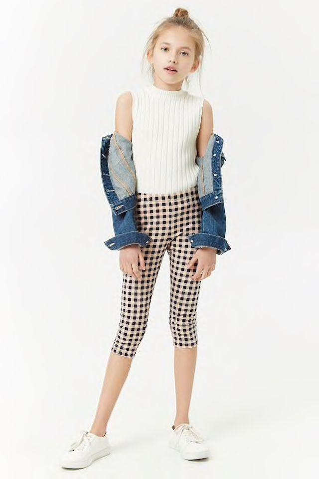 77978571882fb Girls Gingham Capri Leggings (Kids) | Angel in 2019 | Teen clothing ...