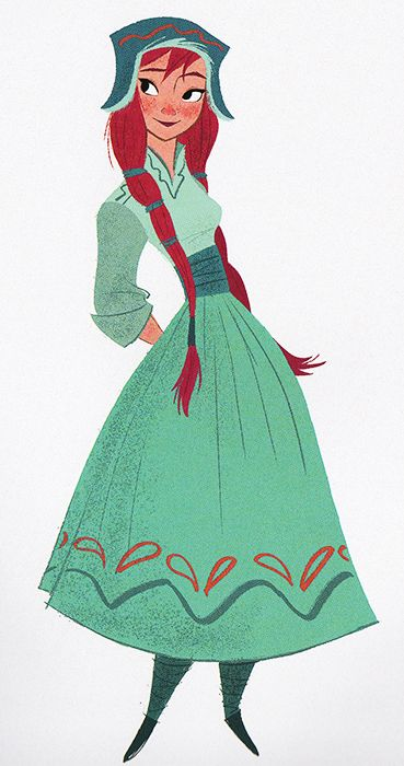 ▣ Frozen (2013) Anna character design, by Michael Giaimo, Bill...