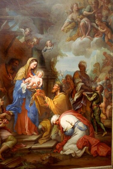Adoration of the Kings by Giuseppe Chiari (1564-1727)