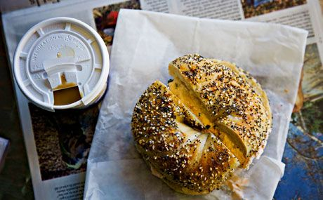 absolute bagels in nyc. will have to try them out next time i'm in town!