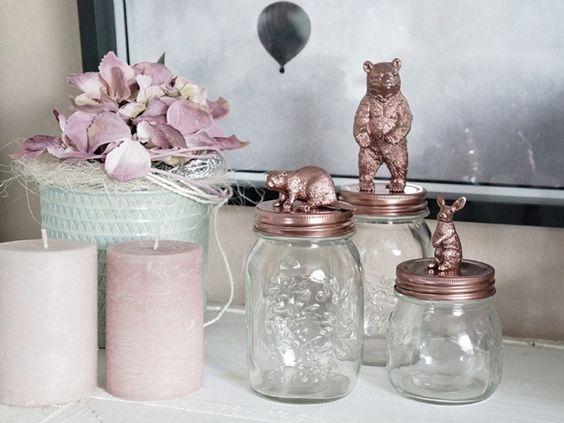 Tutorial fai da te: Come decorare barattoli di vetro via DaWanda.com