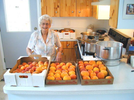 Step by Step to Canning Peaches Recipe. I clicked on this link specifically because the woman in the picture looked like she knows exactly what she's talking about.