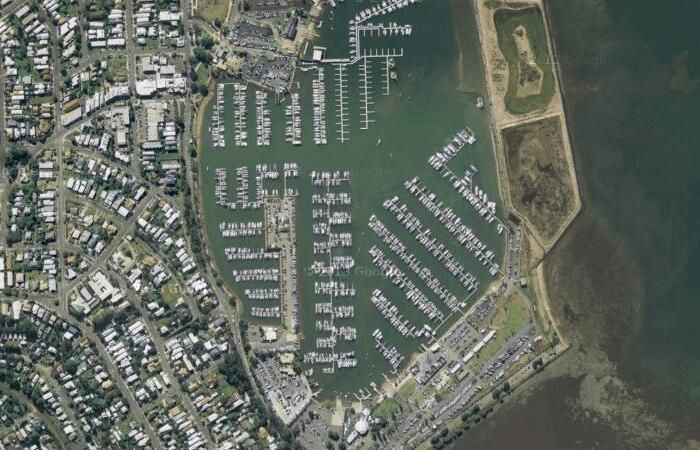 Manly Boat Harbour -- Sightseeing with Google Satellite Maps