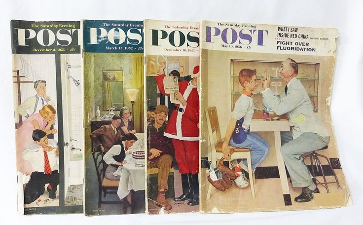 Saturday evening post advertising history literature photos lot of 4