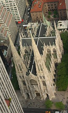 The Cathedral of St. Patrick (commonly called St. Patrick's Cathedral) is a decorated Neo-Gothic-style Roman Catholic cathedral church in the United States~1858