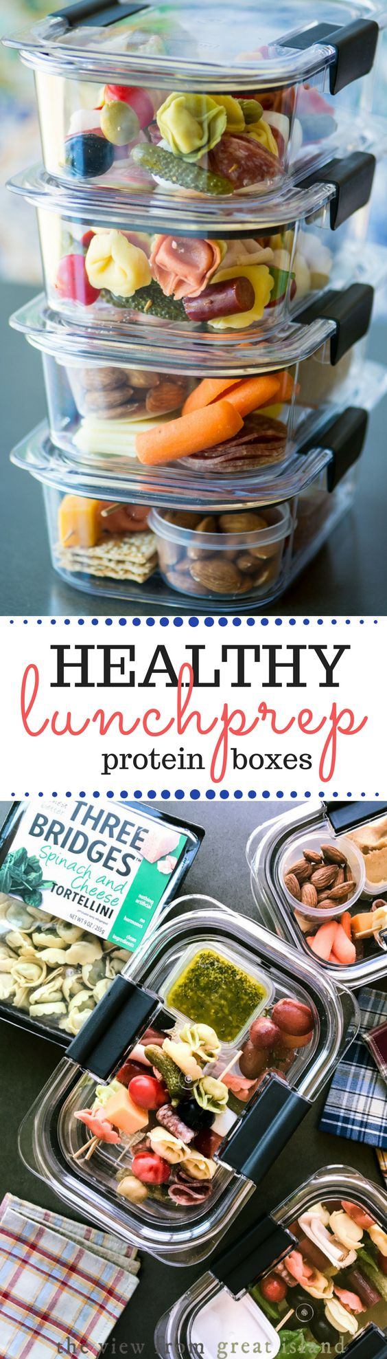 easy lunch prep protein boxes