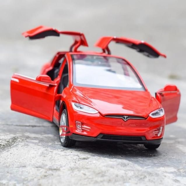 New 1 32 Tesla Model X Alloy Car Model Diecasts Toy Vehicles Toy Cars Free Shipping Kid Toys For Children Gifts Boy Toy Red In 2021 Tesla Model X Car Model Toy Car