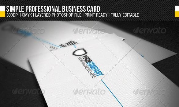 Desain Kartu Nama Perusahaan - Simple Professional Business Card