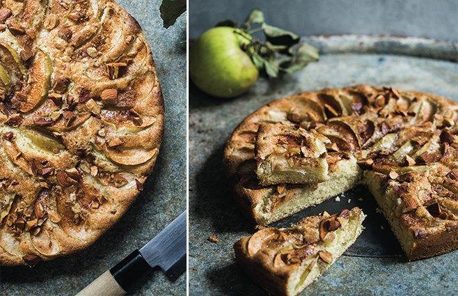ChriChri Klassisk æblekage med kokos & mandler