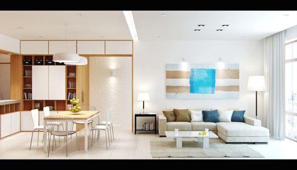 Skandinavisches Apartment von Denis Svirid, via Behance