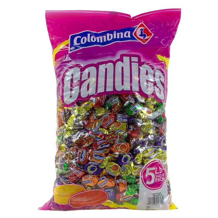 Colombina Fruticas Assorted Flavors Fruit Filled Hard Candy 80 oz,