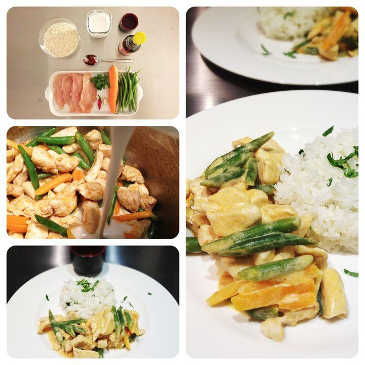 Pollo Panang - Curry rosso tailandese con latte di cocco