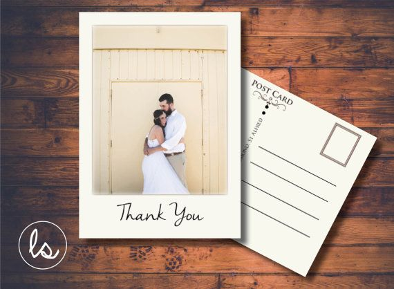 Vintage Wedding Thank You Card ~ Wedding Thank you Photo ~ Wedding Thank you Card Postcard ~ DIY PRINTABLE THANKYOU