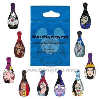 disney bowling pin villian set-complete
