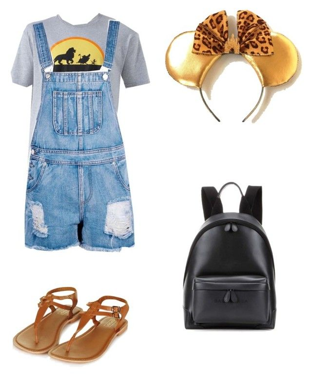 """""""Animal Kingdom outfit"""" by alicelilianrose on Polyvore featuring Disney, Boohoo, Topshop and Balenciaga"""