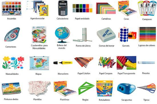 10 best images about classroom objects los objetos dentro for Material de oficina en ingles
