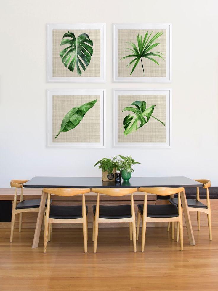 Green leaf framed tropical leaf decor decor leaf decor