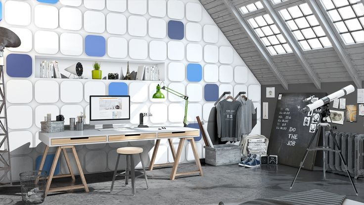 Try the Arstyl Wall Panels simulation tool: http://wallpanels.arstyl.com/simulation/ . Create your style !