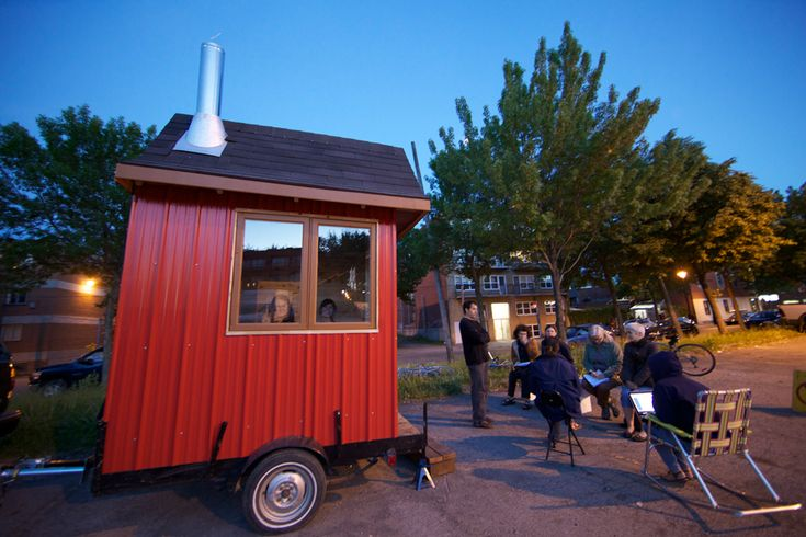 SUNDAY / DIMANCHE PORTABLE SAUNA | A project by Carissa Carman, Mobile sauna