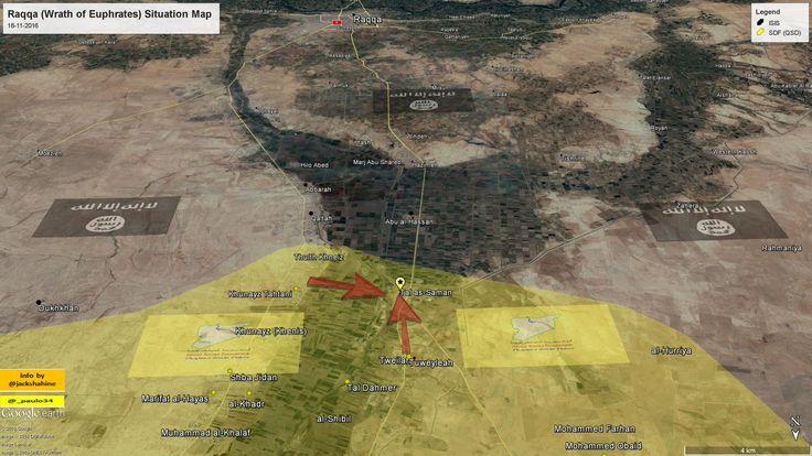 #Raqqah (Wrath fo Euphrates SDF Operation) Situation Map  18-11-2016 #Syria #ISIS vs #SDF #WrathOfEuphrates #wrath_of_euphrates