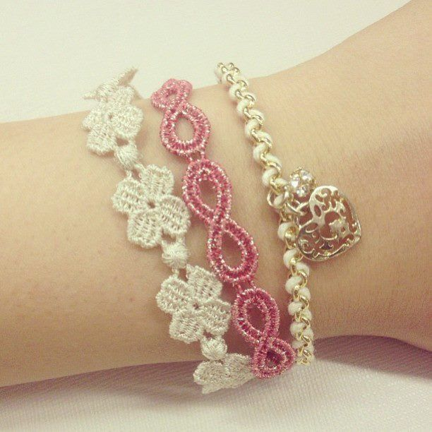 Cruciani Four-leaf Clover (in white) Infinity/Kate Lurex (in...) bracelets
