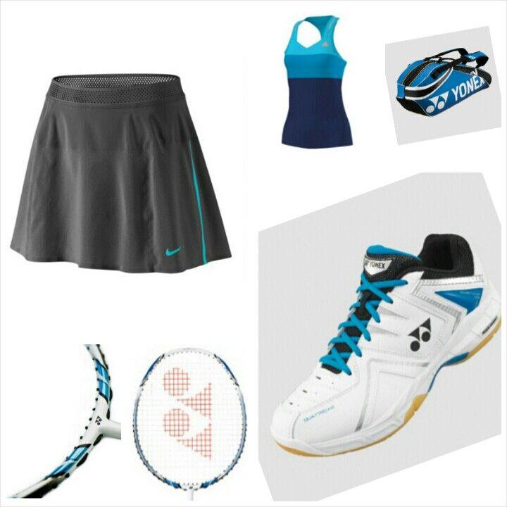 Badminton outfit blue