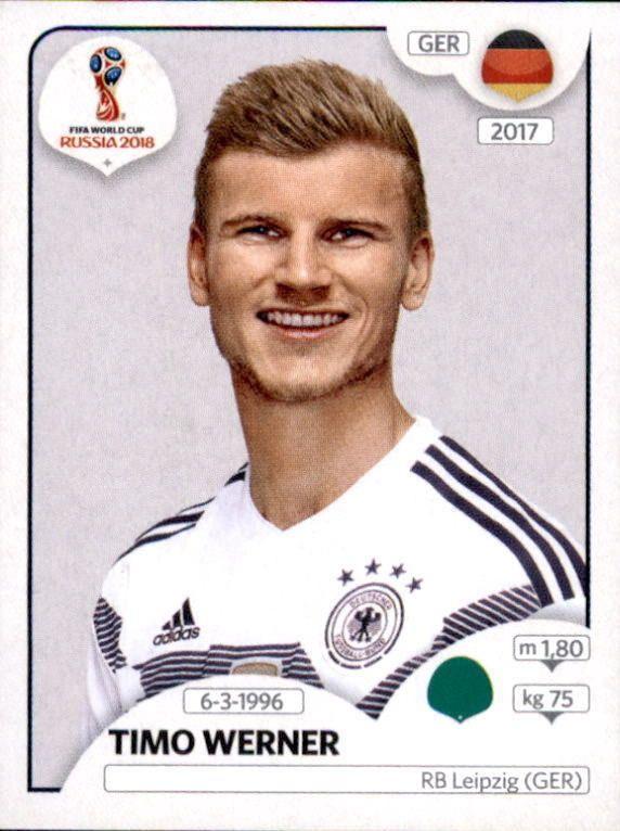 Timo Werner Germany Fifa World Cup Russia 2018 Panini Fifa Copa Do Mundo Figurinhas Da Copa