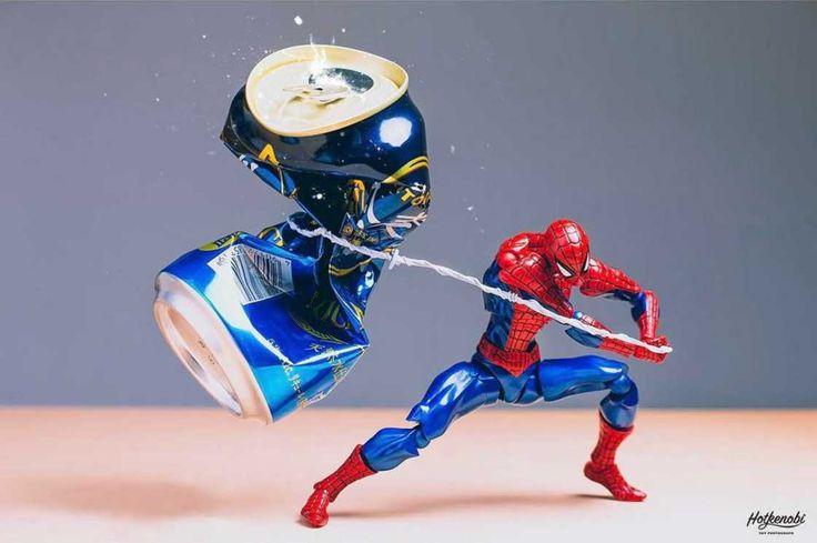 Stunning Mashup Photos of Superhero Action Figures by Japanese Photographer Hotkenobi #inspiration #photography