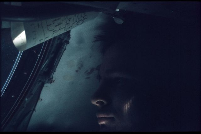 NASA's Project Gemini photos all available online, including this melancholy image of astronaut Ed White