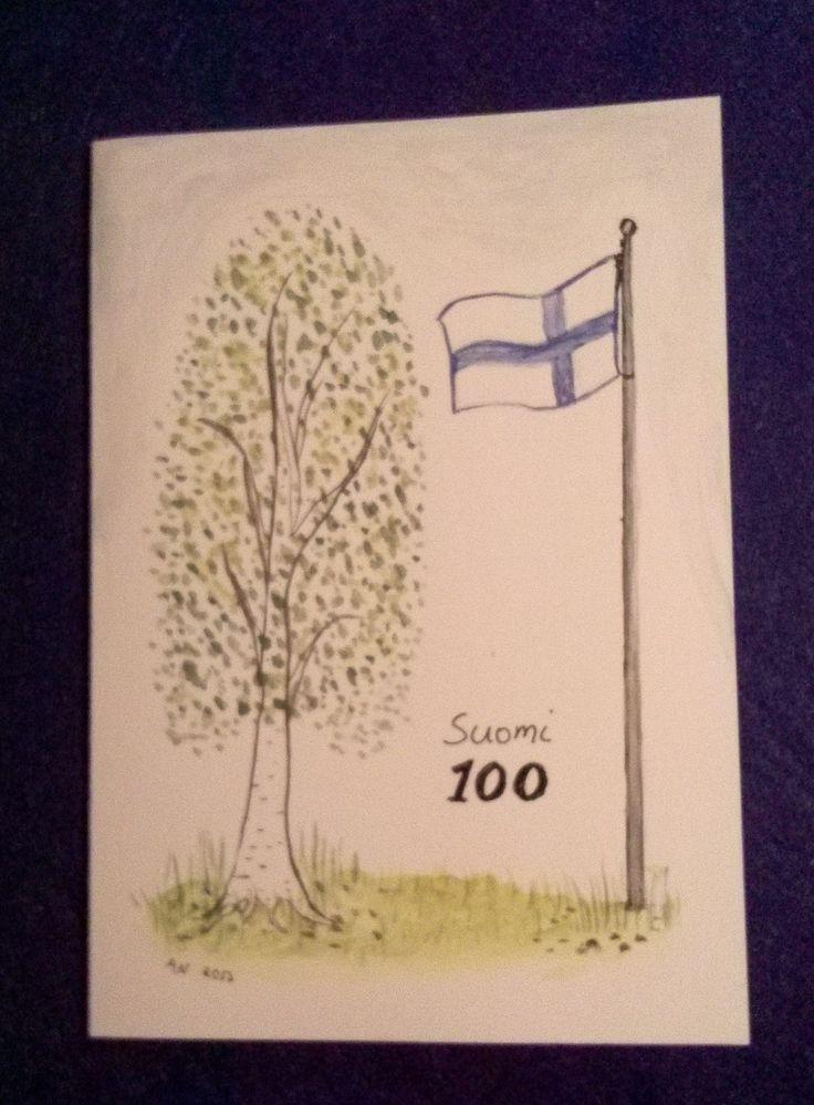 Itsenäisyyspäiväkortti veteraanille