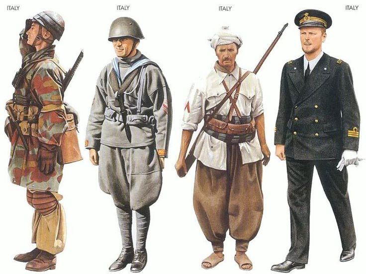 Italian World War 2:  Uniforms