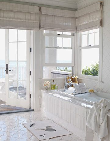 Love the white matchstick blinds - always see them in natural/brown.  This is a good idea to keep it simple