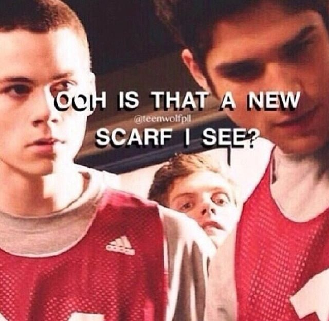 teen wolf Isaac and scarfs~I found this way too funny