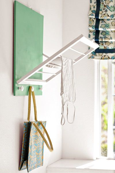 Follow our step-by-steps for this easy DIY drying rack. | thisoldhouse.comOld House, Organic Ideas, Diy Wall Racks, Laundry Rooms, Diy Dry Racks Laundry, Laundry Diy, Laundry Racks Diy, Diy Projects, Drying Racks