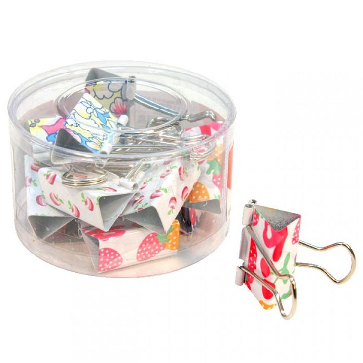 Large Fruit/Flower Binder Clips 12pk - PAPER CLIPS - STATIONERY SUPPLIES - STATIONERY - Asian Food Grocer
