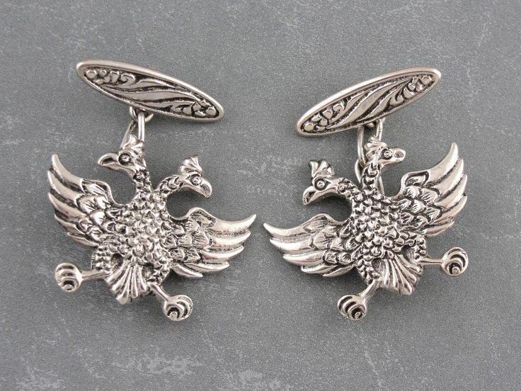 Double Headed Eagle Cufflinks, Masonic Symbol, Byzantine Empire, Roman, Lagash Eagle Cufflinks EALXX9-R by MSJewelers on Etsy https://www.etsy.com/listing/508778521/double-headed-eagle-cufflinks-masonic