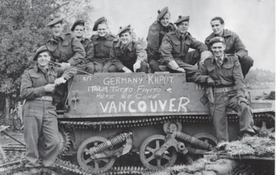 This picture shows Canadian soldiers in Europe during World War 2. This is a credible source because it is a primary source and was posted by a women who's father served in the Canadian Military. Canadian lives are changing in this time because men have to leave their homes to go to war and leave their families behind.