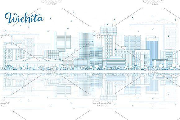#Outline #Wichita #Skyline by Igor Sorokin on @creativemarket